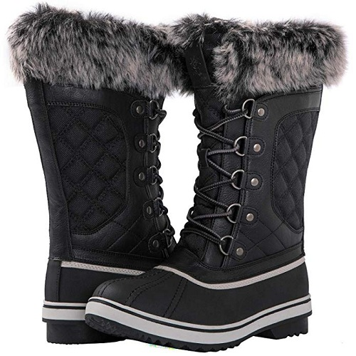King show Women's Global Win Waterproof Winter Boots
