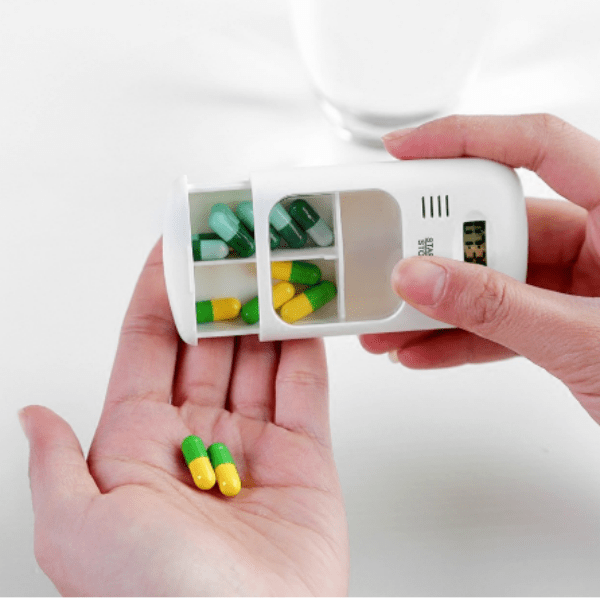 44. Mini Portable Pill Reminder Alarm Electronic Box Organizer-Best to buy things on aliexpress best sellers