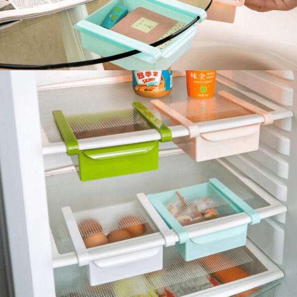 69. Mini Slide Kitchen Fridge Space Saver Organizer-Best to buy things on aliexpress best sellers