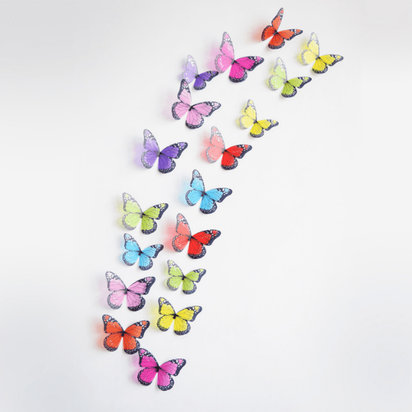 83. 3D Effect Crystal Butterflies Wall Sticker Home Decoration On the Wall-Best to buy things on aliexpress best sellers