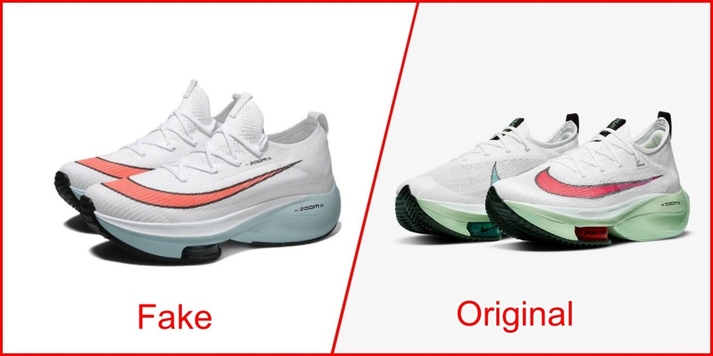 2. Nike Air Zoom Alphafly - Fake Nike Shoes Vs Original
