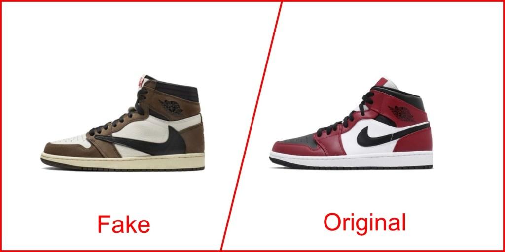 4. Air Jordan 1 - Nike Shoes Replica Vs Original