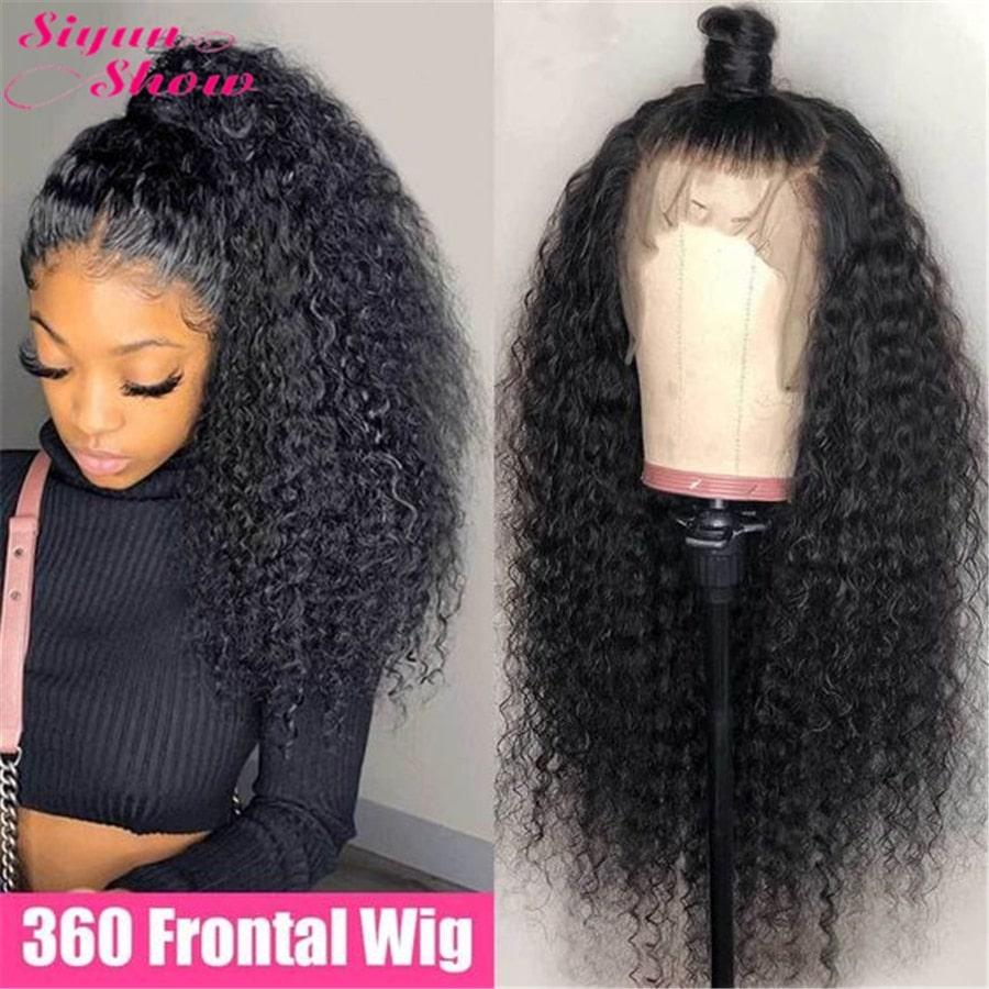 1.8. Siyun Show 360 Lace Curly Hair Wig-AliExpress Curly Hair