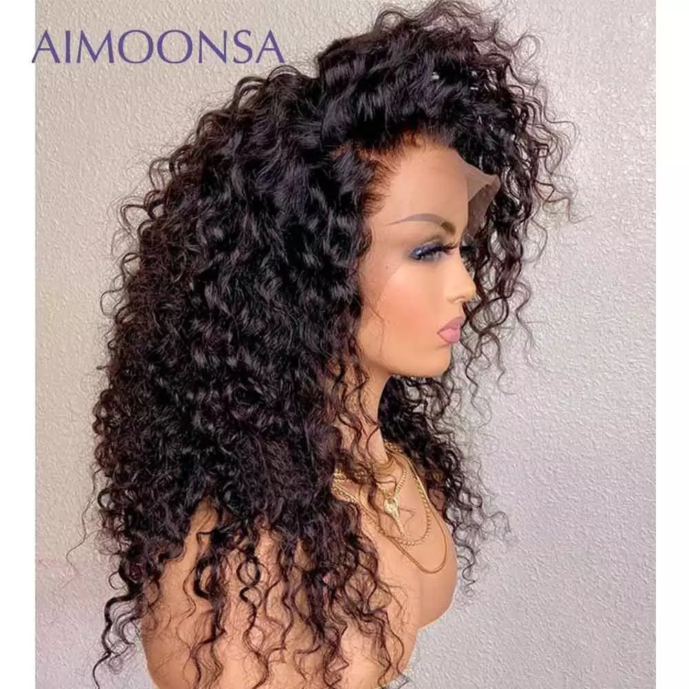 2.10. Aimoonsa Curly Remy Hair Wig-Best AliExpress