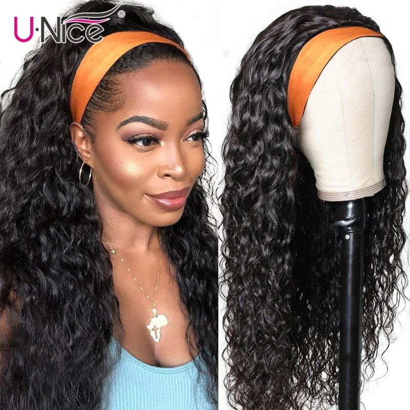 2.9. UNICE Headband Curly Remy Hair Wig-Best AliExpress