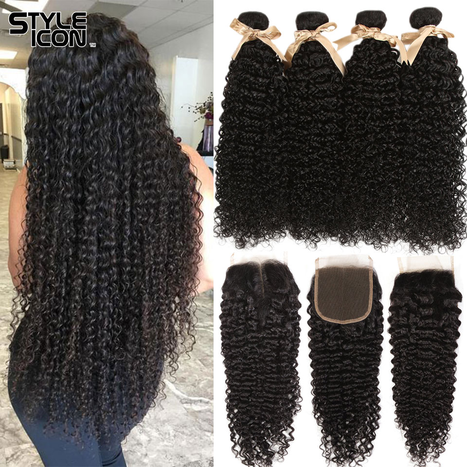 3.1. Styleicon Malaysian Kinky Curly Non Remy Human Hair-Best AliExpress