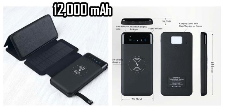 PB5. Shenzhen Foldable Solar Power Bank 12000mAh Wireless Charger Waterproof 2-Best Sellers Aliexpress-best sellers alie