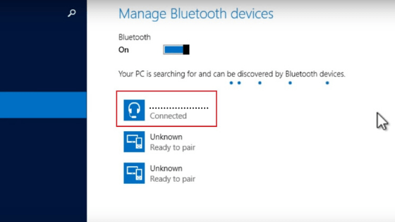 connecting to bluetooth speaker in windows 8