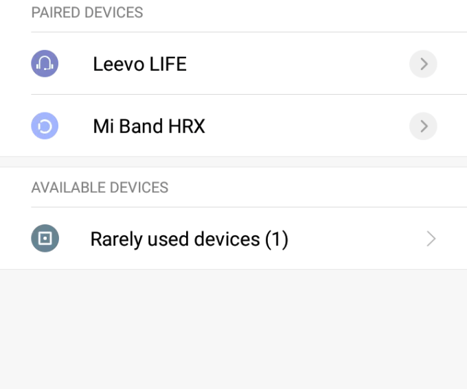 available bluetooth devices