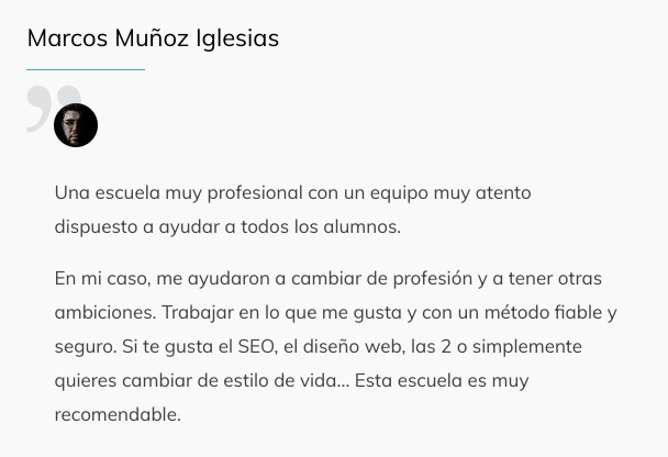 Optimizer Maneger Testimonios Alumnos 4