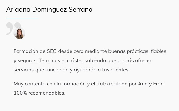 Optimizer Maneger Testimonios Alumnos 7