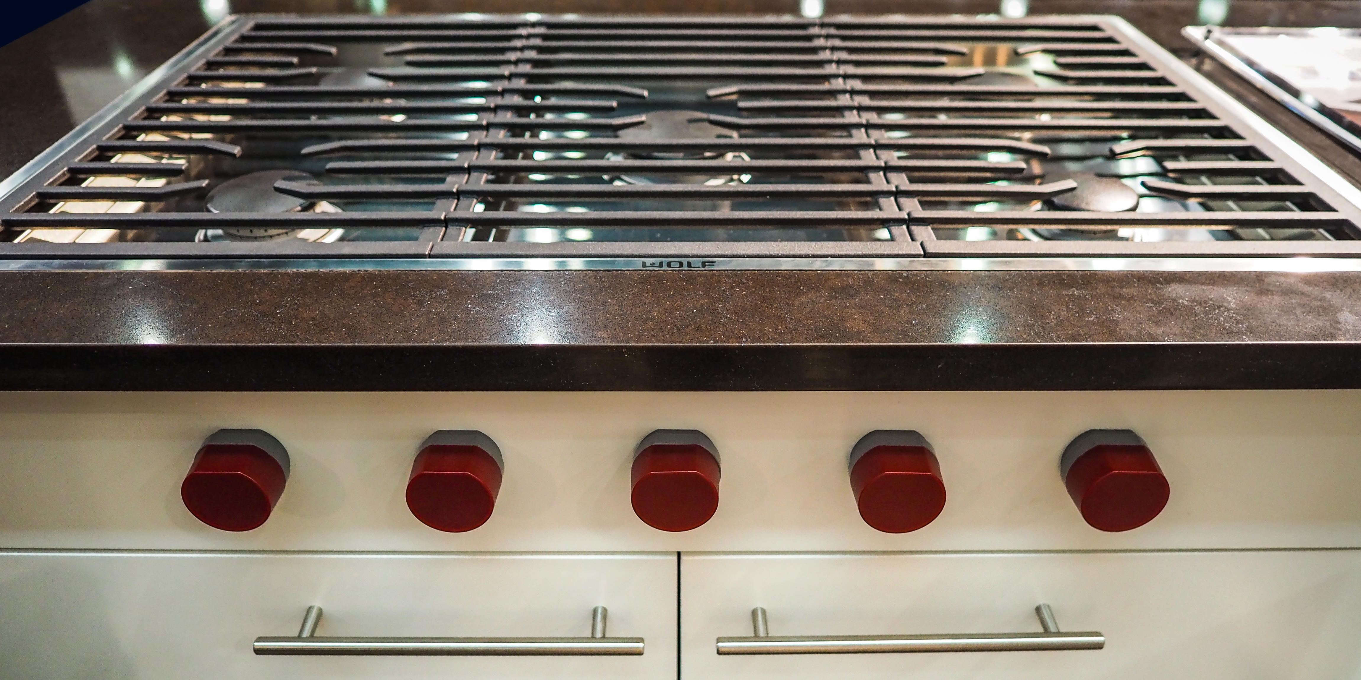 best high end kitchen appliances small counter lamps new wolf cooktop hides its features - reviewed.com ...