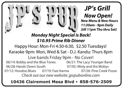 At JP's Pub Tonight! Bobby And The Blue Tones!