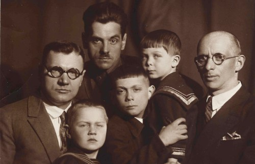 Maxim Letvinov with Leo's father and grandfather.