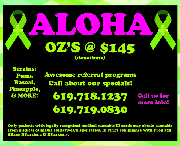 Aloha ounces at $145 - delivery to South Bay San Diego.