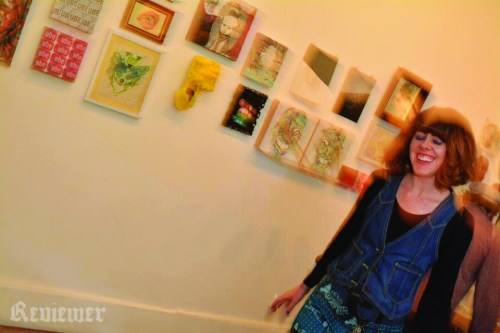Meegan Nolan, Low Gallery, FAST FORWARD show. Photo by the totally amazing Reviewer Rob.