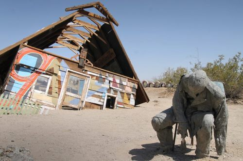 They like their privacy in Slab City/East Jesus.