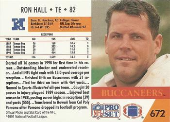 Ron Hall, Tight End, Tampa Bay Buccaneers.