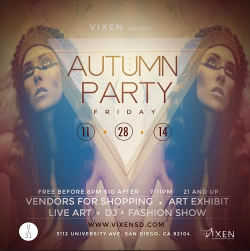 Autumn party tonight at U31.