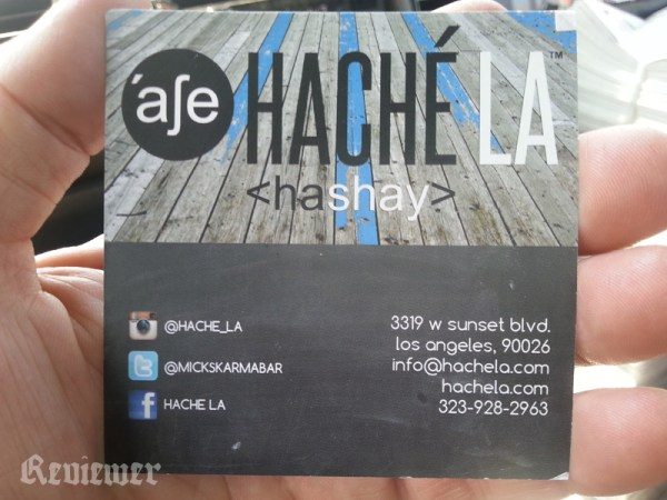 Nice card though, at Hache LA.