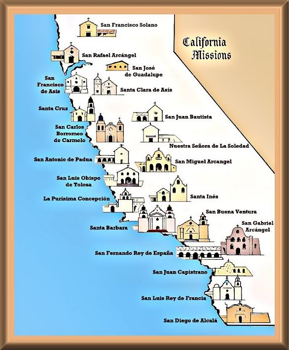 Junipero Serra founded many Missions in California.