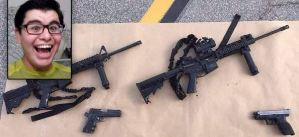 Enrique Marquez, and some of the San Bernardino terrorist attacker's cofiscated/recovered guns.