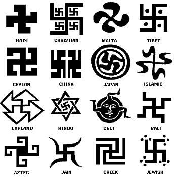 From http://tvtropes.org/pmwiki/pmwiki.php/Main/NonNaziSwastika/