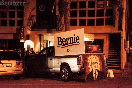 Outside Thumbprint Gallery 5-22-16 for the Bernie Sanders' art benefit.