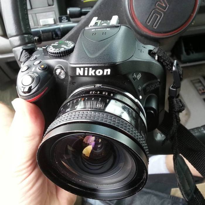 Hello old friend: Tamron 19mm fixed, f3.5