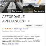 Affordable Appliance Plus Austin Texas - Review Fraud