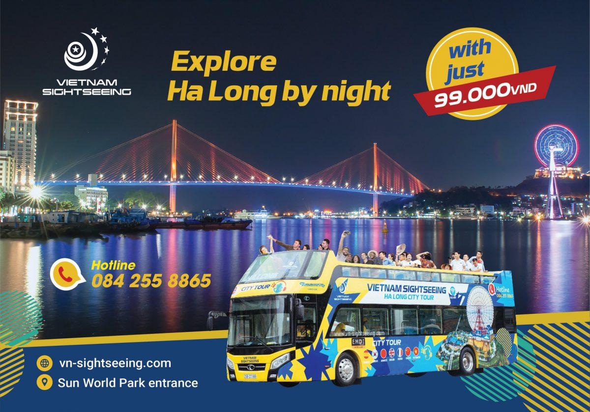 Tour đêm cho tuyến bus 2 tầng Hạ Long khai trương với giá chỉ từ 99k