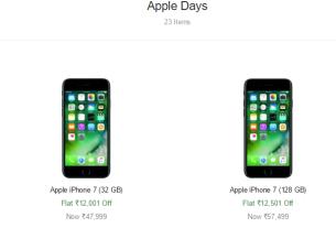 flipkart apple days sale