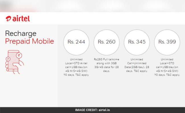 Airtel new data plans