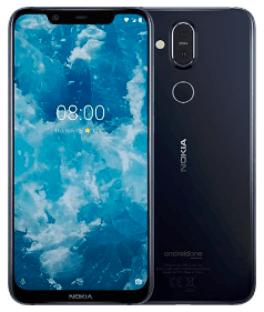Nokia 8.1 front - back