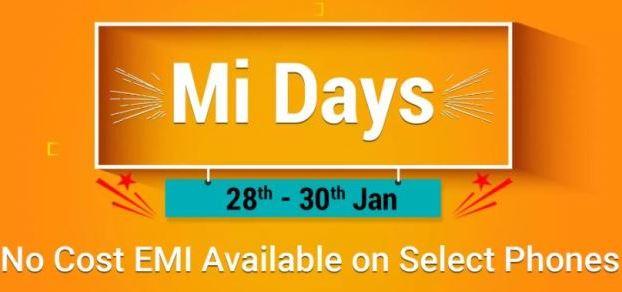 Mi Days Sale on Flipkart