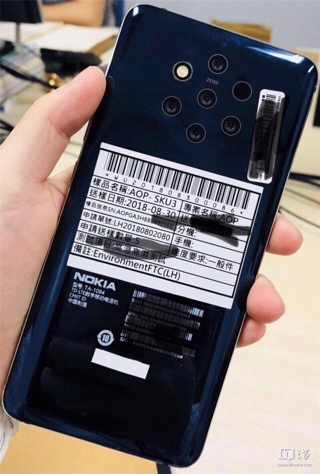 Nokia 9 PureView Penta-Lens camera