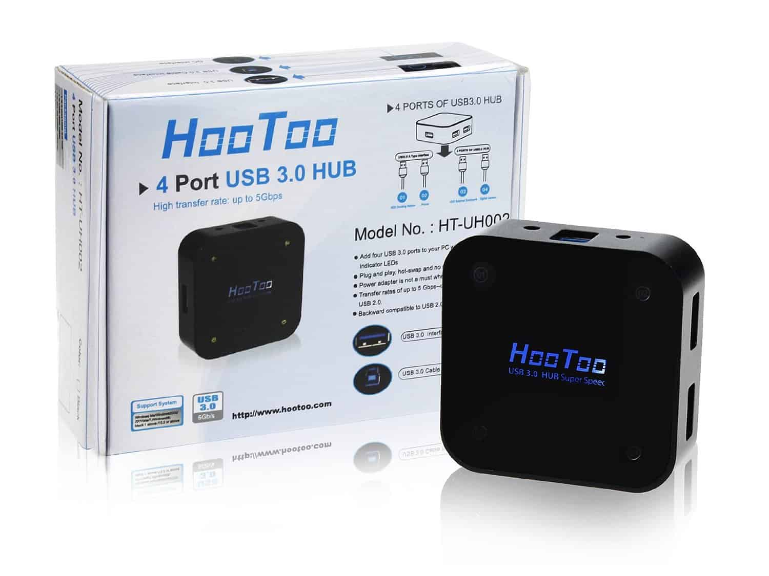 HooToo 4 Port USB 3 Hub Review