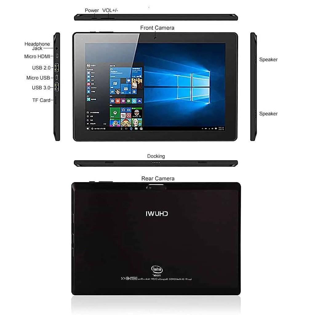 Chuwi Hi10 Tablet Size