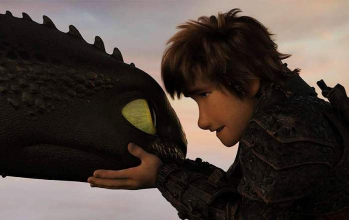 """Frame from the cartoon """"How to Train Your Dragon 3"""""""