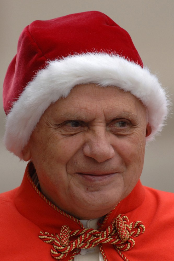 Why the pope wore that 'Santa hat'