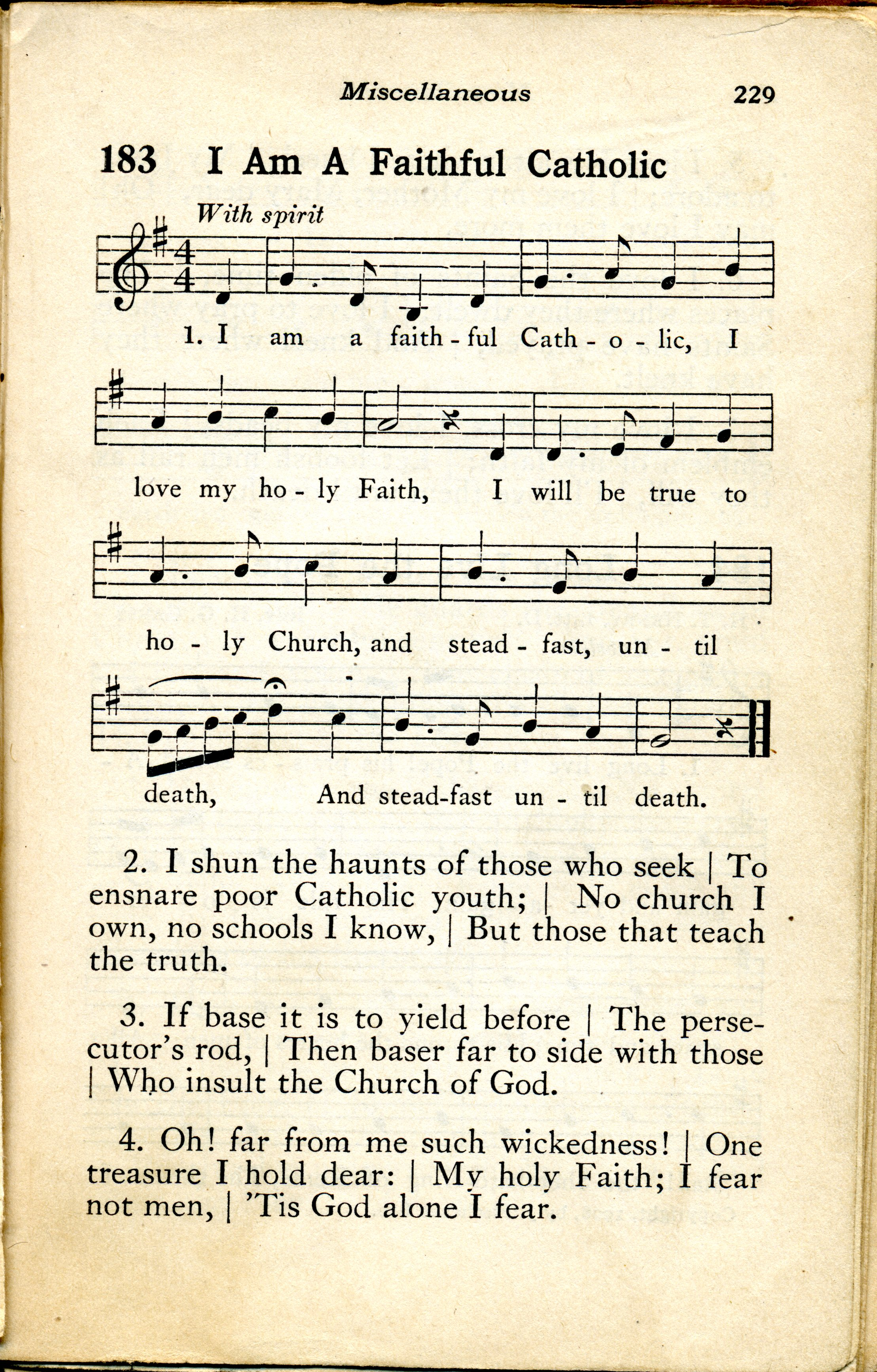 Hymns For The Pope