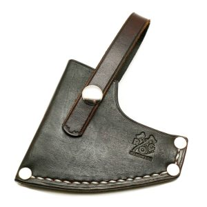 Council Tool 2# Wood-Craft Camp Carver, 16″ Axe Custom Leather Sheath
