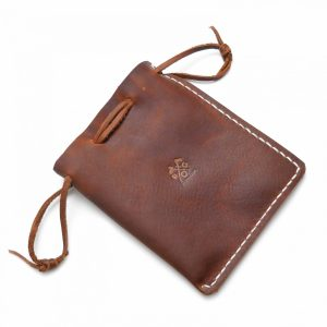 Handmade Leather Multipurpose Drawstring Pouch