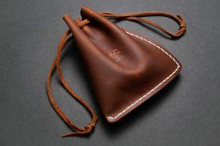 Handmade Leather Multipurpose Drawstring Pouch