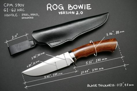 ROG Bowie Knife and Sheath V2