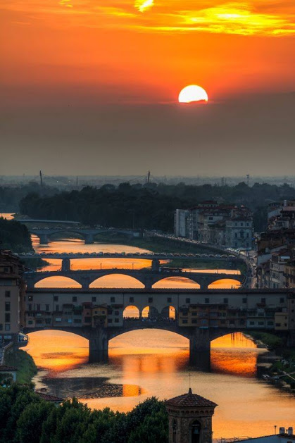 Sunset in Florence, Italie