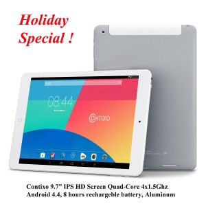 Contixo LA970 9.7 inch Tablet PC IPS Quad Core Google Android 4.4 KitKat