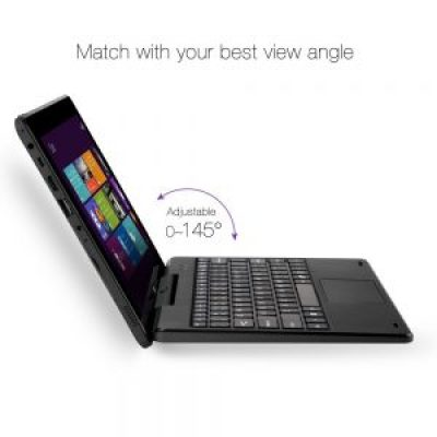 iRULU WalknBook 3 10.1 Inch Notebook, Hybrid 2 in 1 Tablet PC, Microsoft Windows 10 Operation System, Quad Core, Detachable Keyboard (Dark Gray)