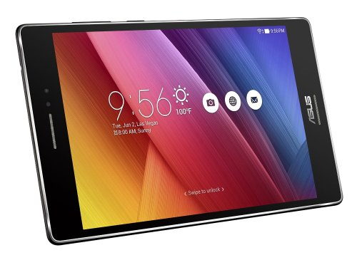 ASUS ZenPad S 8 Z580CA-C1-BK Tablet 8 inch IPS Display (2048x1536) with Corning Gorilla Glass3, 4GB RAM, 64GB Storage, Intel Moorefield Z3580 2.3GHz Super Quad-Core 64bit, Android 5.0 Lollipop, Dual Camera Rear 8MP, Front 5MP - with ASUS PixelMaster Technology, Black