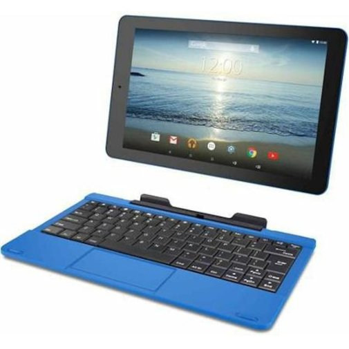 RCA Viking Pro 10.1 inch 2-in-1 Tablet - Laptop, 32GB onboard storage memory, 1.3GHz Quad Core processor, Blue with Touchscreen and Detachable Keyboard, Google Android 5.0 Lollipop